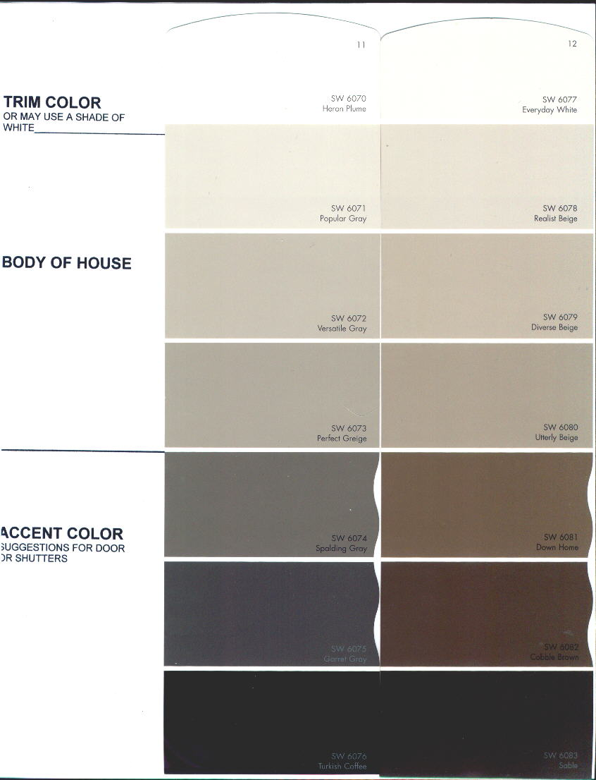 Approved colors for the preserve at rio pinar color chart 1 nvjuhfo Gallery
