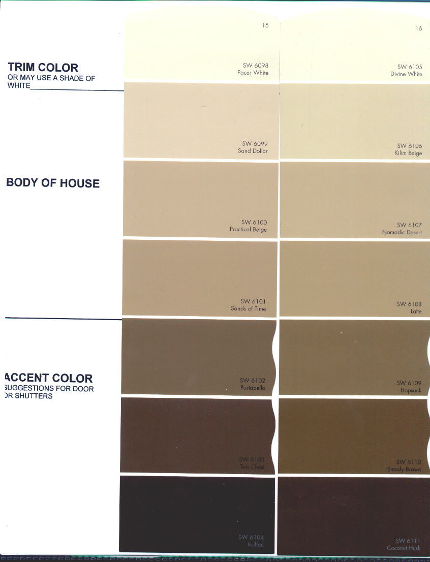 The preserve architectural review board color charts note the numbers beginning with sw are sherwin williams colors these colors are provided only as a guide and may not match actual color nvjuhfo Gallery